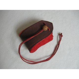 Lederbeutel (rot/braun)